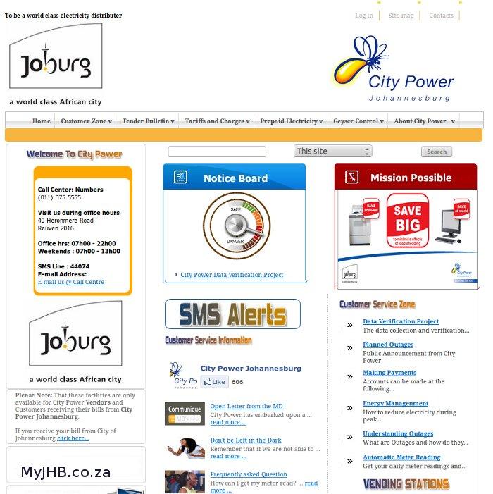 City Power WebSite