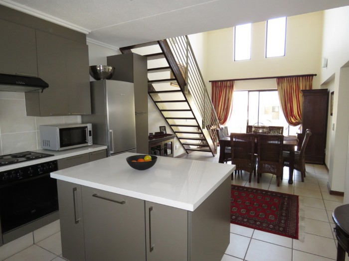 On the market for R1.6 million, this stunning loft apartment is conveniently located on the Gautrain bus route in Bryanston. The perfect lock-up-and-go for the busy executive this home offers two bedrooms, two bathrooms an open-plan kitchen and dining area and a balcony.
