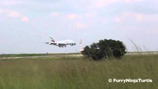 Emirates A380-800 Arrival at Johannesburg