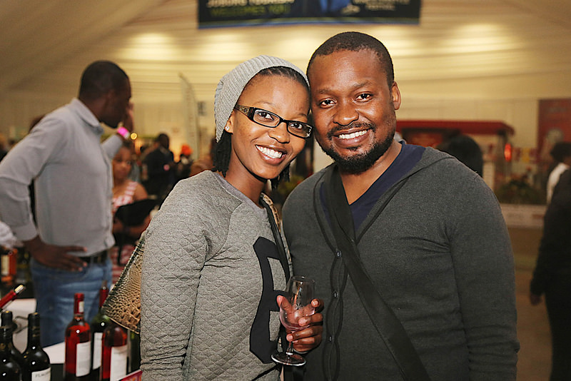 Nontsikelelo Tanda & Justice enjoying their time at  the 10th TOPS at SPAR Soweto Wine and Lifestyle Festival
