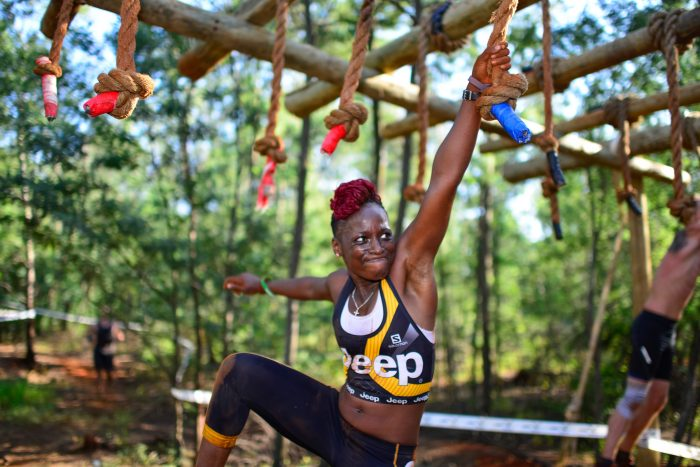 JeepWarrior3_actress_Hlubi_Mboya_at_BreakingPointObstacle_placed_10th_in_Commando_Elite
